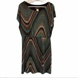 Connected Apparel women's chevron abstract dress